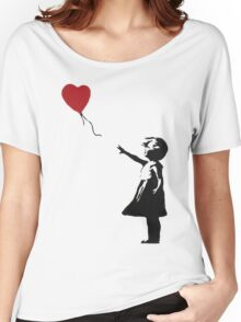 Banksy Heart - ONE:Print Women's Relaxed Fit T-Shirt
