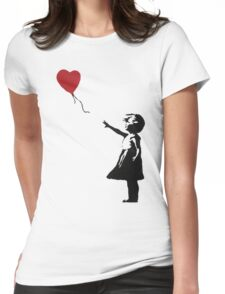 Banksy Heart - ONE:Print Womens Fitted T-Shirt