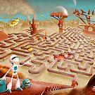 Robot city maze by pixbyrichard