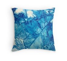 Blue iceberg in abstract. Throw Pillow