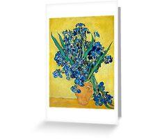 1890-Vincent van Gogh-Irises-73,5x92 Greeting Card