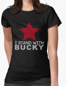 I Stand With Bucky Womens Fitted T-Shirt