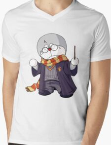 Doraemon harry potter Mens V-Neck T-Shirt