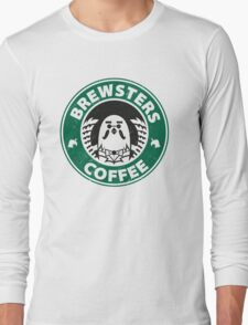 Brewsters Coffee (distressed) Long Sleeve T-Shirt