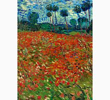 1890-Vincent van Gogh-Poppy field-82,7x102 Unisex T-Shirt