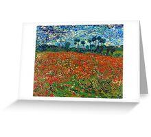 1890-Vincent van Gogh-Poppy field-82,7x102 Greeting Card