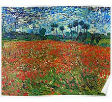 1890-Vincent van Gogh-Poppy field-82,7x102 Poster