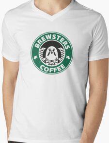 Brewsters Coffee Mens V-Neck T-Shirt
