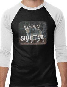 BEWARE SHIFTER (wolf) Men's Baseball ¾ T-Shirt