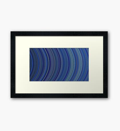 curve ribbon pattern blue Framed Print