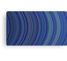 curve ribbon pattern blue Canvas Print