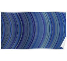 curve ribbon pattern blue Poster