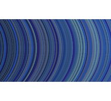 curve ribbon pattern blue Photographic Print