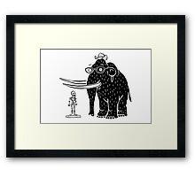 Frozen Mammoth Framed Print