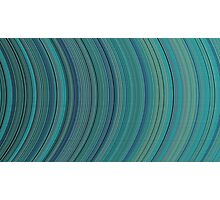 curve ribbon pattern light blue Photographic Print