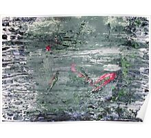 In the Darkness of the Night - Original Wall Modern Abstract Art Painting Original mixed media Poster