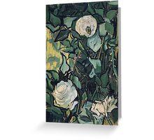 1890-Vincent van Gogh-Roses-24,5x33,5 Greeting Card