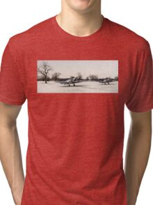 Spitfires in the snow Tri-blend T-Shirt