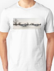 Spitfires in the snow Unisex T-Shirt