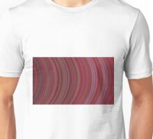 curve ribbon pattern red Unisex T-Shirt
