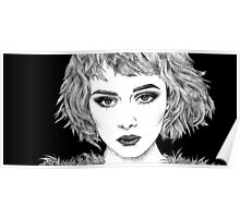 'Anna' Classic Cinematic Fashion Portrait, Ink Poster