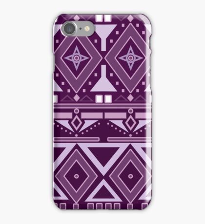 Seamless texture retro graphic design purple on a white background iPhone Case/Skin