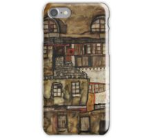 Egon Schiele - House Wall on the River 1915 iPhone Case/Skin