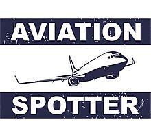 Aviation Spotter 737-blue Photographic Print