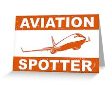 Aviation Spotter 737 Greeting Card