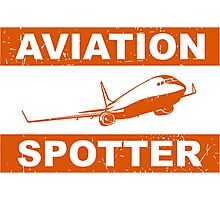 Aviation Spotter 737 Photographic Print