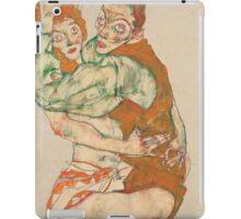 Egon Schiele - Lovemaking 1915 Woman Portrait iPad Case/Skin