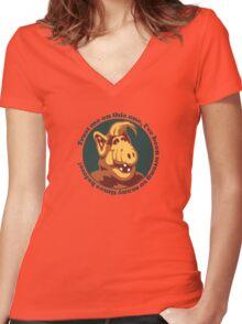 Alf Guru Women's Fitted V-Neck T-Shirt
