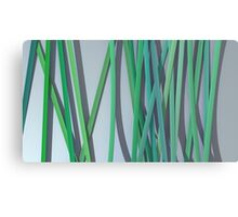 ribbon paper background green Canvas Print