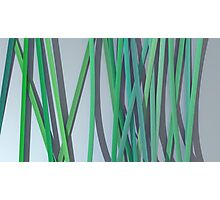 ribbon paper background green Photographic Print