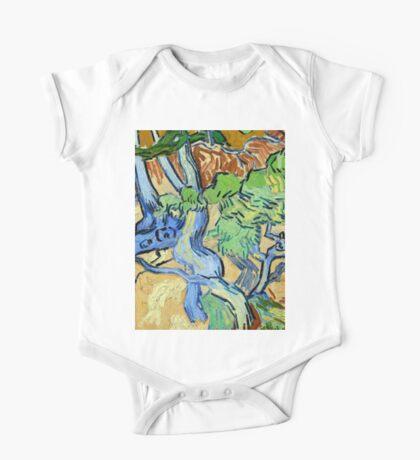 1890-Vincent van Gogh-Tree-roots-50x100 One Piece - Short Sleeve