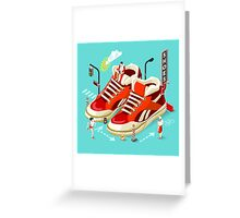 Sneakers Shopping Addiction Greeting Card