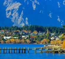 Amazing Queenstown in Autumn, New Zealand, NZ Sticker
