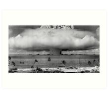 Nuclear Weapon Test - Bikini Atoll  Art Print
