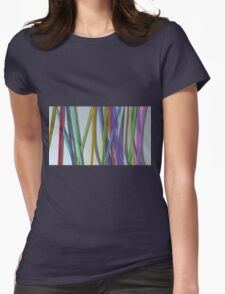 paper ribbon background color Womens Fitted T-Shirt