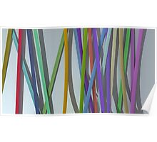 paper ribbon background color Poster