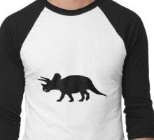 Triceratops Shadow Men's Baseball ¾ T-Shirt
