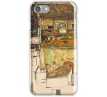 Egon Schiele - Old Houses in Krumau, 1914 Landscape iPhone Case/Skin