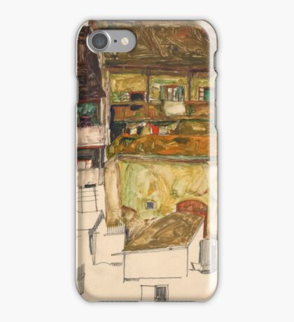 Egon Schiele - Old Houses in Krumau, 1914 Landscape iPhone Case/Skin