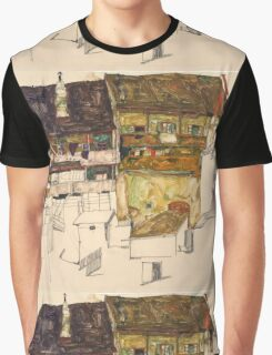 Egon Schiele - Old Houses in Krumau, 1914 Landscape Graphic T-Shirt