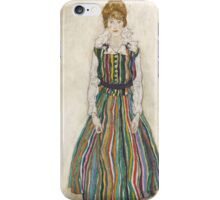 Egon Schiele - Portrait of Edith the artist's wife 1915 Woman Portrait iPhone Case/Skin