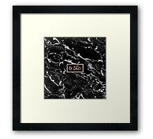 Rose gold marble stylish french le chic typography  Framed Print