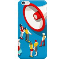 Social Promotion Concept Isometric iPhone Case/Skin