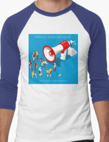 Social Promotion Concept Isometric Men's Baseball ¾ T-Shirt