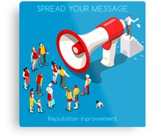 Social Promotion Concept Isometric Metal Print