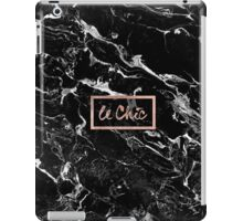 Rose gold marble stylish french le chic typography  iPad Case/Skin